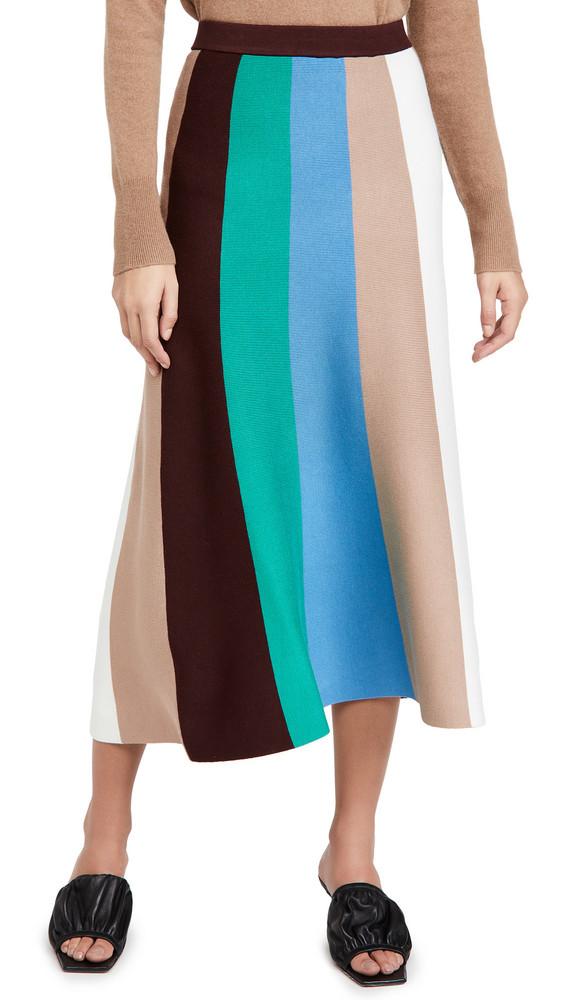 Victoria Victoria Beckham Block Stripe Knitted Skirt in multi