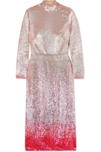 Temperley London - Opia Open-back Dégradé Sequined Crepe Midi Dress - Pink