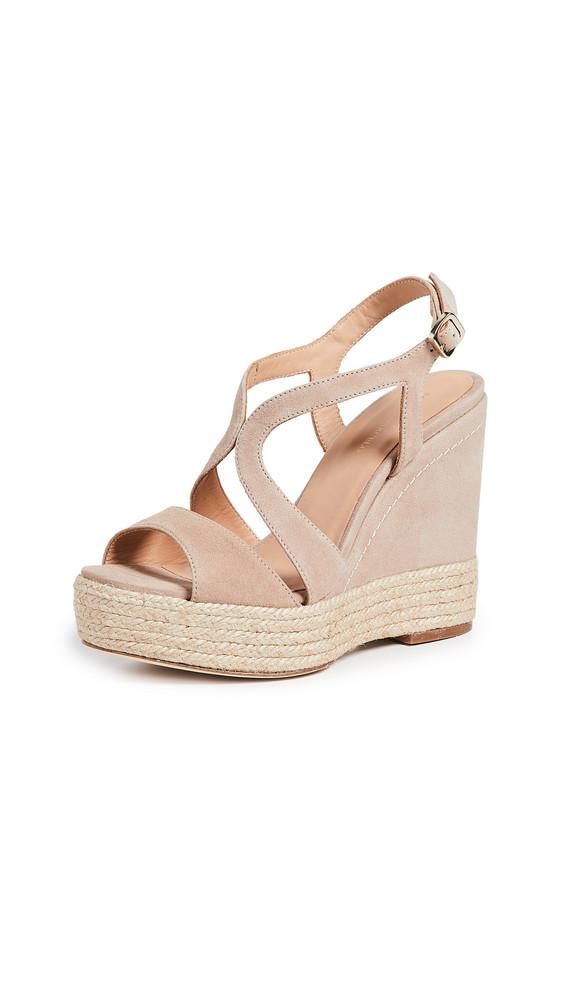 Paloma Barcelo Mafafa Wedge Sandals in taupe