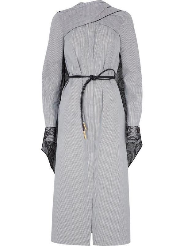 Fendi wrap design draped dress in white