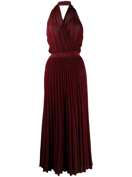 Missoni pleated maxi dress in red