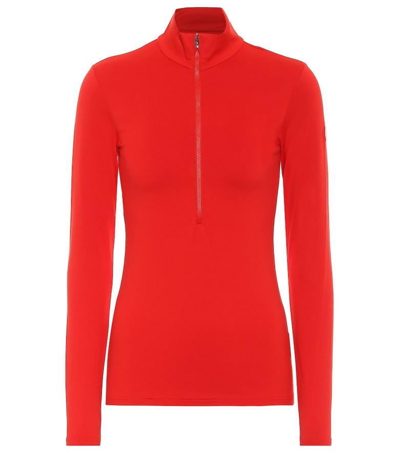 Fusalp Ski Gemini III high-neck zip-up sweater in red
