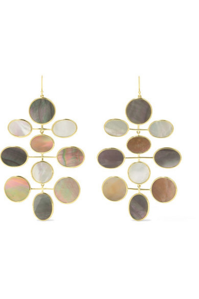 Ippolita - Polished Rock Candy 18-karat Gold Shell And Mother-of-pearl Earrings