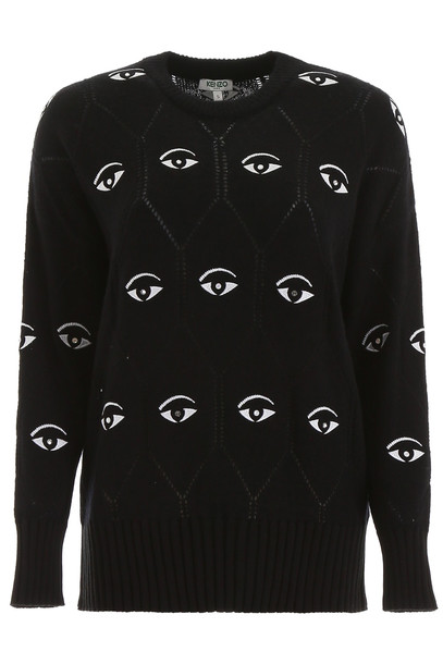 Kenzo Crystal Eye Pullover in black