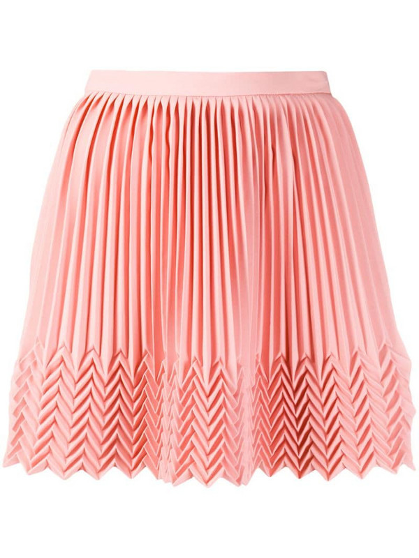 Marco De Vincenzo pleated mini skirt in pink