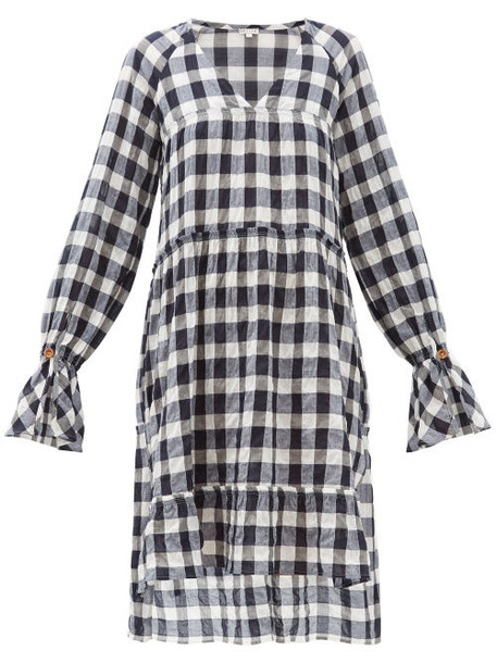 Belize - Medina Gingham Cotton-blend Dress - Womens - Navy White