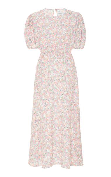 Faithfull The Brand Beline Midi Dress Size: XS in pink