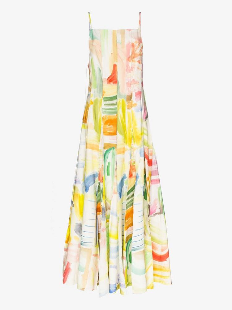 Rosie Assoulin ROSIE A MILLION PLEATS DRESS HN STRPY LB in white
