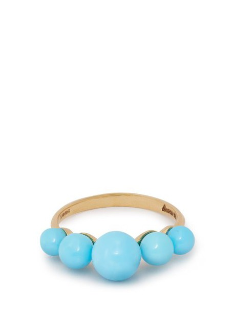 Irene Neuwirth - Turquoise & 18kt Gold Ring - Womens - Blue
