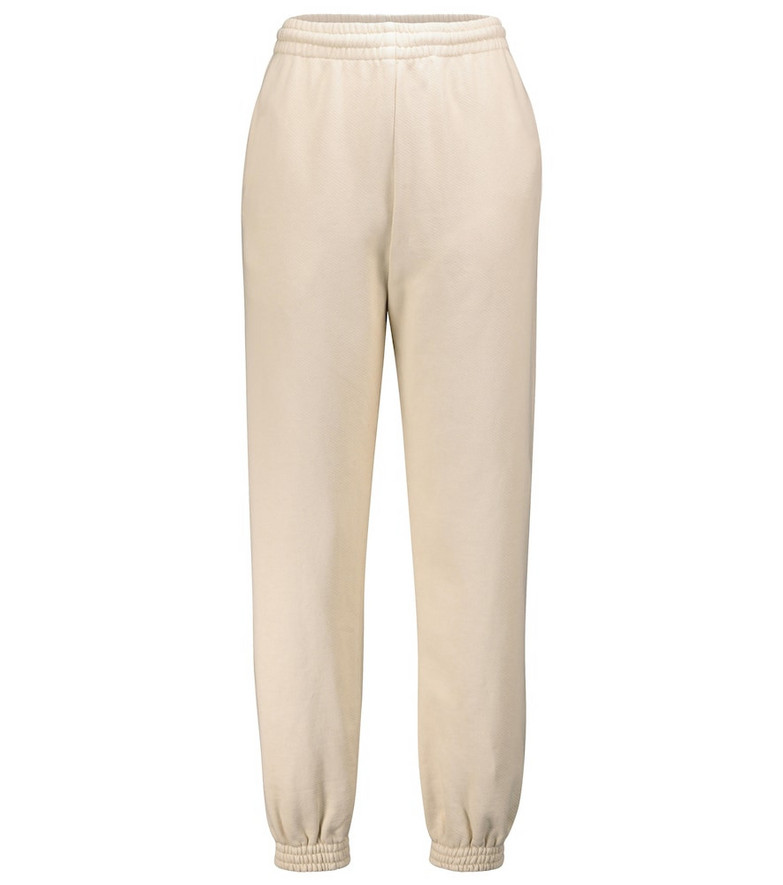 Off-White Cotton track pants in beige