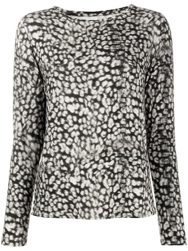 Majestic Filatures leopard-print long-sleeved T-shirt in brown