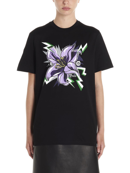 Prada lilium T-shirt in black