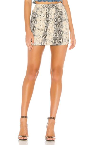 superdown Isabela Mini Skirt in beige