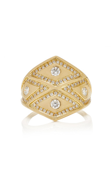 Ralph Masri Heliopolis Rhombus Ring in gold