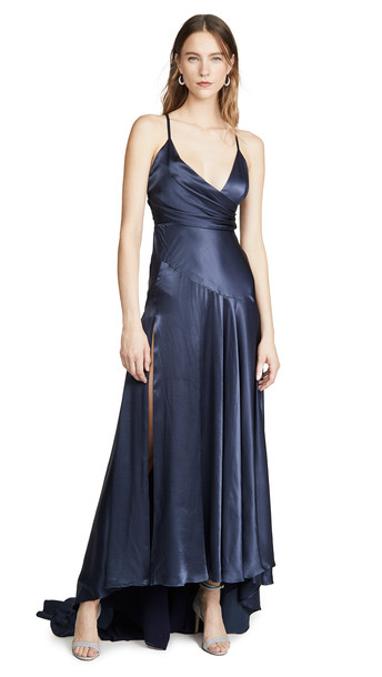Fame and Partners The Peony Dress in indigo
