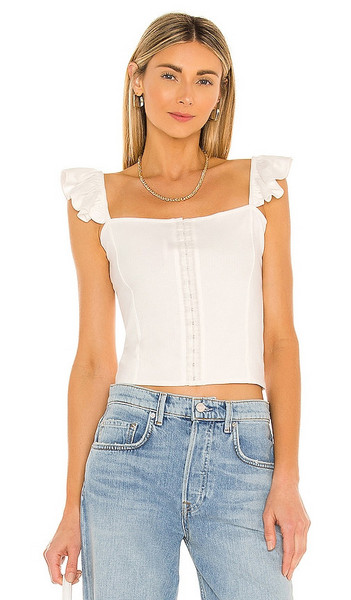 BB Dakota by Steve Madden Sweetest Thing Top in White in ivory