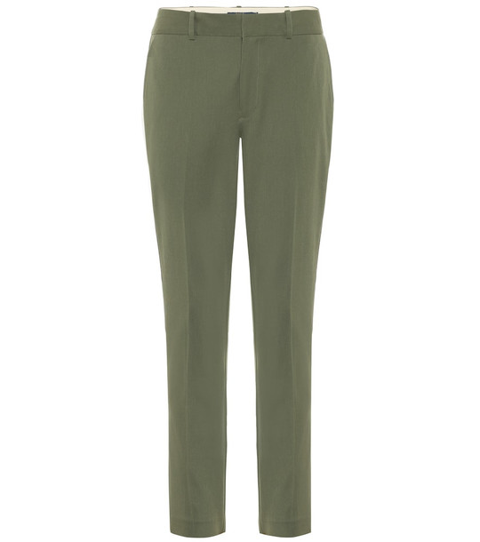 Polo Ralph Lauren Mid-rise straight cotton-blend pants in green