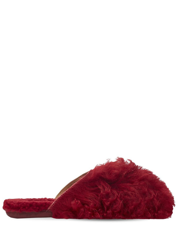 Ugg X Molly Goddard Slippers in red