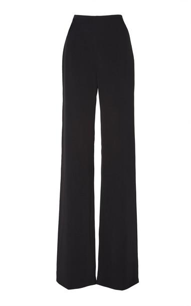 Jenny Packham Pia High Rise Wide Leg Pant Size: 14 in black