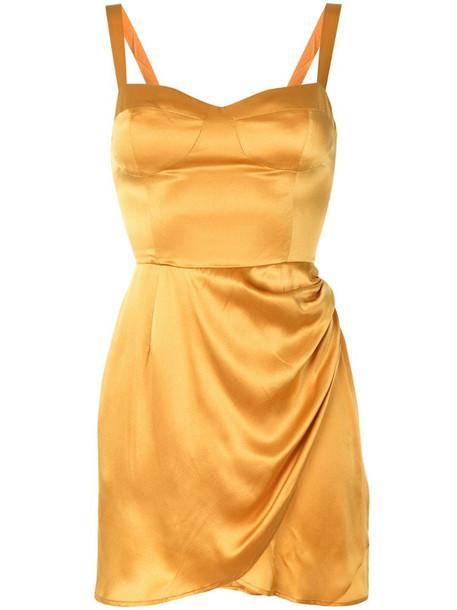 Reformation Fonda mini dress in orange