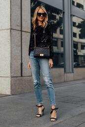 fashionjackson,blogger,top,jeans,shoes,bag,sunglasses