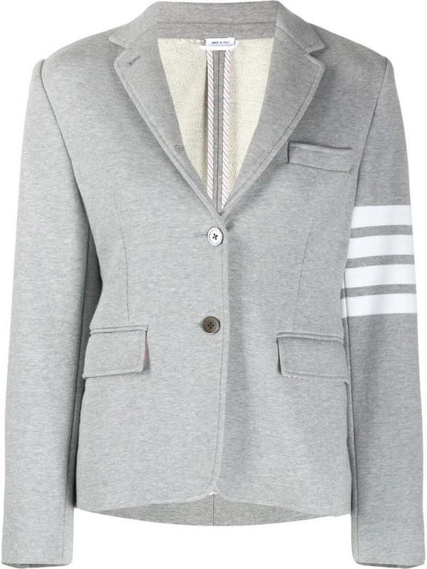 Thom Browne 4-Bar blazer in grey