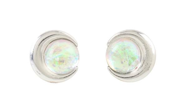jewels jewelry moon silver earrings gemstone opal