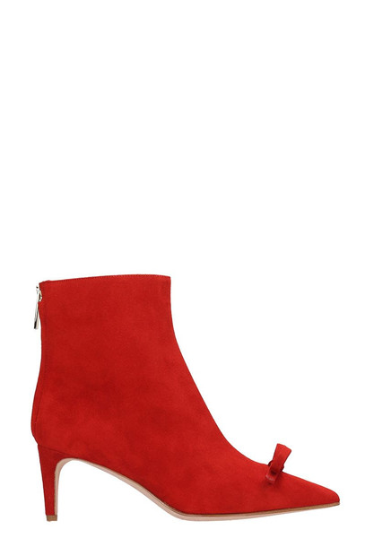 RED Valentino Ankle Boots In Red Suede