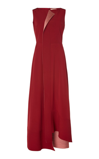 ROKSANDA Efilia Lapel Midi Dress in red