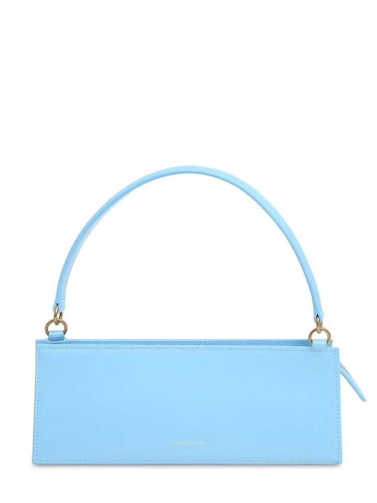 MANSUR GAVRIEL Leather Pencil Shoulder Bag in blue