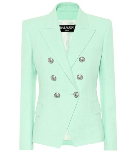 Balmain Cotton blazer in green