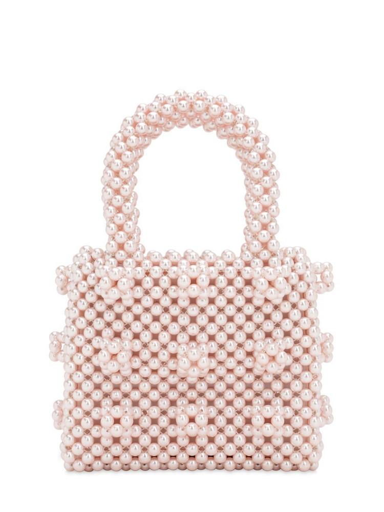 SHRIMPS Mini Antonia Beaded Top Handle Bag