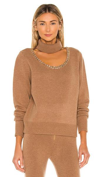 Divine Heritage x REVOLVE Turtleneck Sweater in Brown in khaki