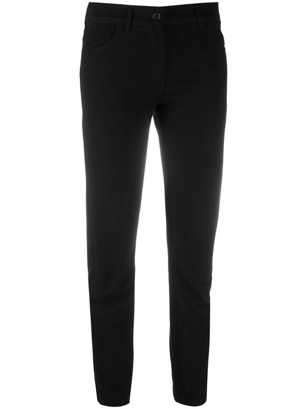 Ann Demeulemeester cropped straight-leg trousers in black