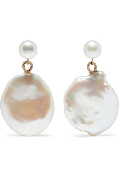 Natasha Schweitzer - Keshi Gold Pearl Earrings