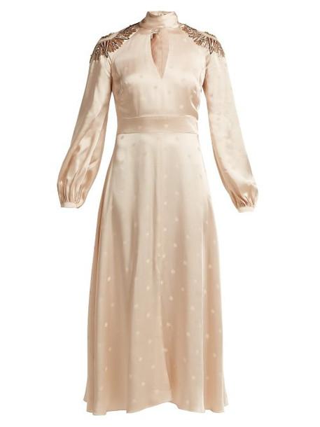 Temperley London - Parachute Sequinned Satin Dress - Womens - Nude