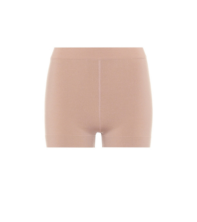 Alaïa High-rise wool-blend shorts in beige