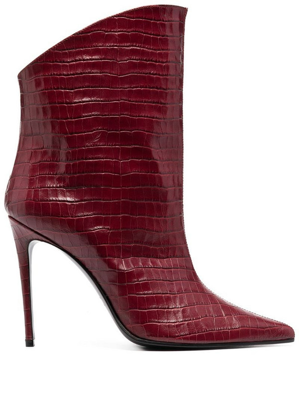 Giuliano Galiano Elise pointed boots in red