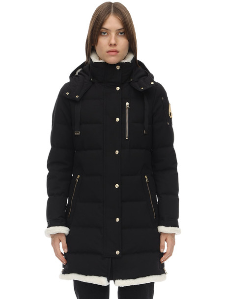 MOOSE KNUCKLES Mont Joli Cotton & Nylon Down Parka in black