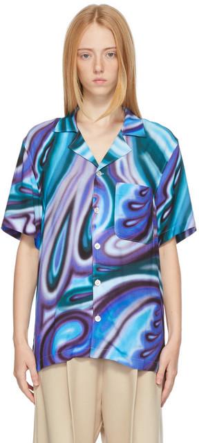 Stockholm (Surfboard) Club Stockholm (Surfboard) Club Purple & Blue Stoffe Short Sleeve Shirt in multi