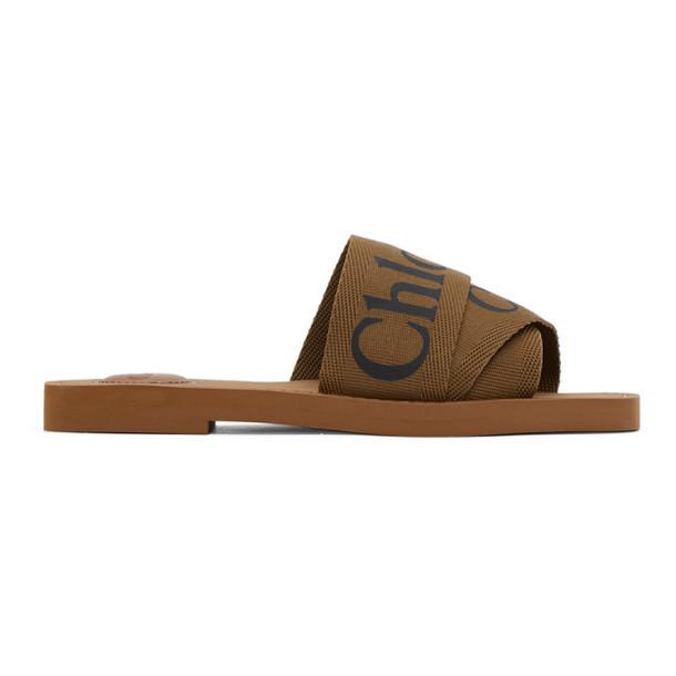 Chloe Brown Woody Sandals