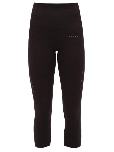 Falke - Shape High-rise Cropped Jersey Leggings - Womens - Black