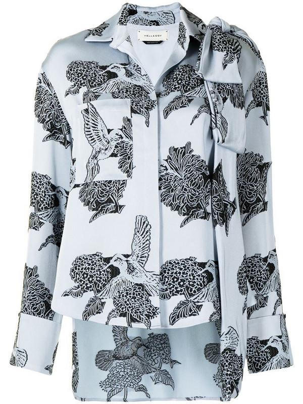 Hellessy Legacy hummingbird-motif shirt in blue