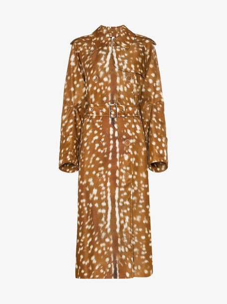 Burberry Bambi-print belted trench coat