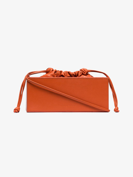 Studio Amelia orange 2.1 box leather shoulder bag