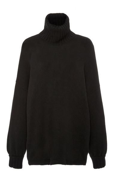 Red Valentino Turtleneck Sweater in black