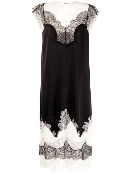 Costarellos Amerlina lace-trimmed midi dress in black