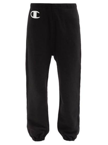 Nili Lotan X Champion - Logo-print Cotton-jersey Track Pants - Womens - Black
