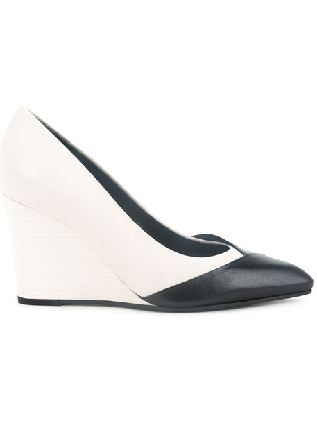 LANVIN wedge pumps in white