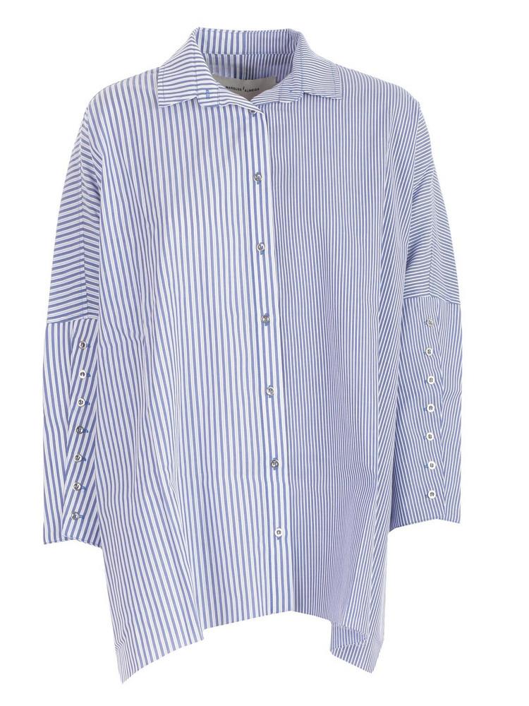 Marques'almeida Striped Shirt in blue